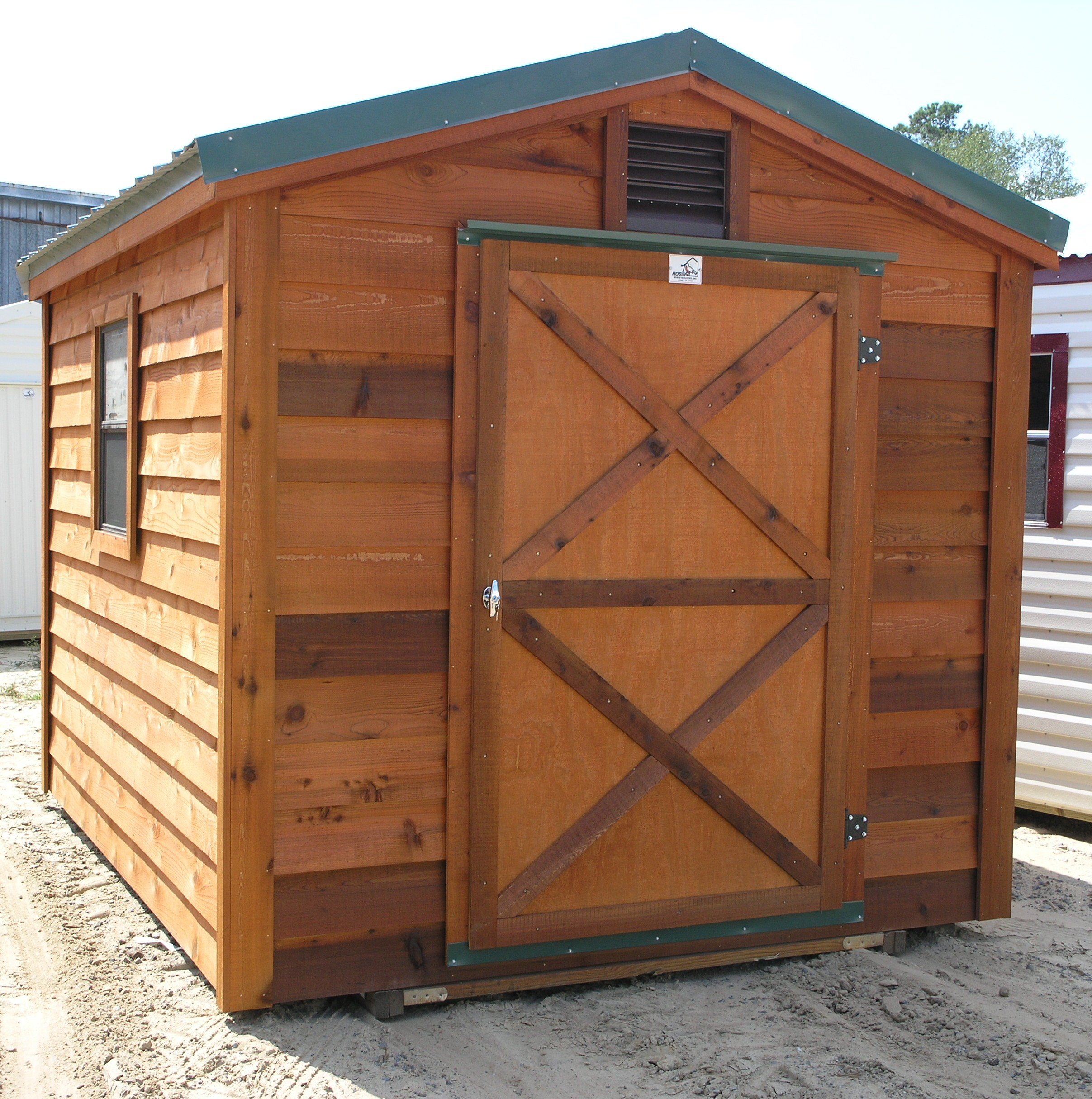 painted with shed house mb corner tilford building garden sheds finish