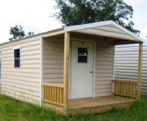 porch style shed